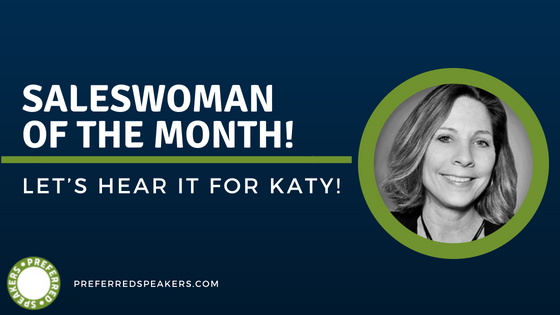 Let's Hear It For Katy!  Our SalesWoman Of The Month!